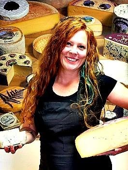 Rachael Lucas with cheese blocks Picmonkey