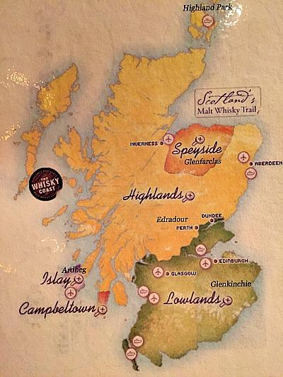 Scotch whiskey districts Picmonkey