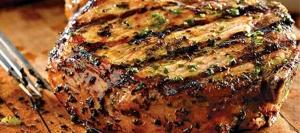 Grilled Pork with Basil-Garlic Rub