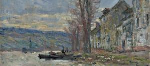 Section of River at Lavacourt by Claude Monet