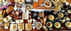 A sample of cheeses on offer from Alison Leber's Roving Cheese Shop