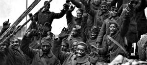 Harlem Hellfighters on return from France at end of World War I