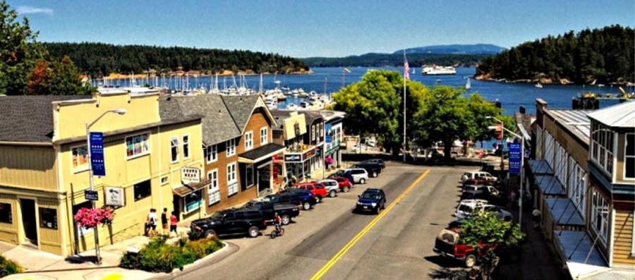 Picturesque Friday Harbor in the San Juan Islands