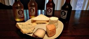 Cheeses  from 12 o'clock forward:  Cottonbell, Dirt Lover, Mont St. Francis, Monte Enebro, Pt. Reyes Original Blue.