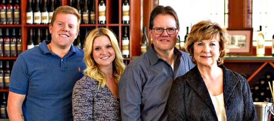 Riley Clubb and his sister, Rebecca Olson (at left) with their parents,  Marty and Megan Clubb