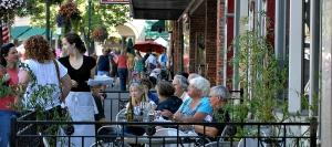 Diners enjoy a warm summer evening in Walla Walla