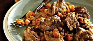 Braised Chuck Steaks with Lentils