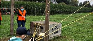 What kid (of any age) wouldn't want to try the Picha Farms' pumpkin slingshot?