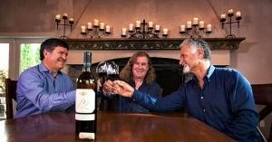 DeLille Cellars cofounders toast their 25th harvest. (L-R) Greg Lill, Chris Upchurch and Jay Soloff)