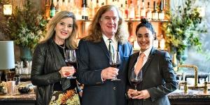 Thea and Chris Upchurch with Dominique Ortiz-Davalos, sommelier at Le Coucou