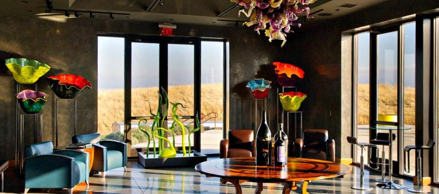 Long Shadows Vintners' Chihuly Tasting Room in Walla Walla.
