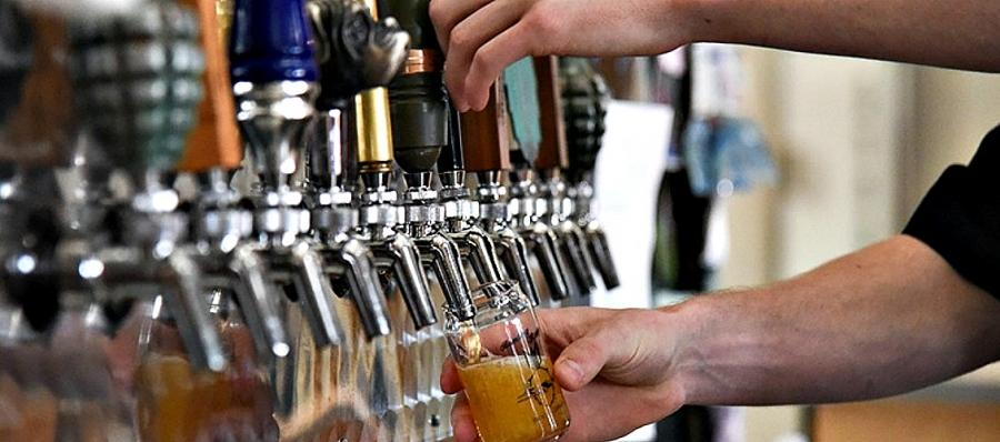 Bombing Range Brewing Company taps