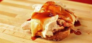 Open Faced Pulled Turkey Sandwich